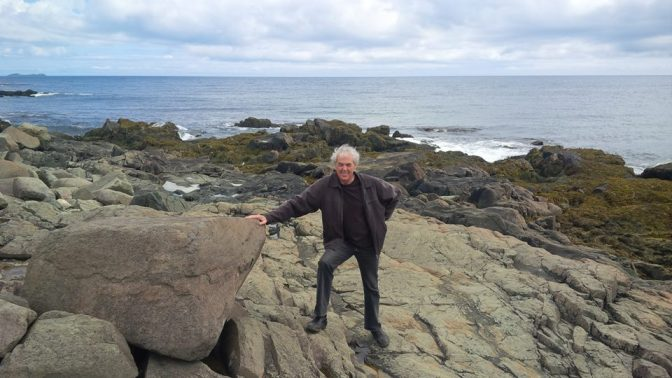 Author Mike Marint on the Rock in Newfoundland